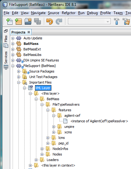 Locate XML Layer file